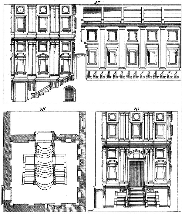 Portion Of The Section Plan Vestibule And Transverse Library St Laurence By Michelangelo
