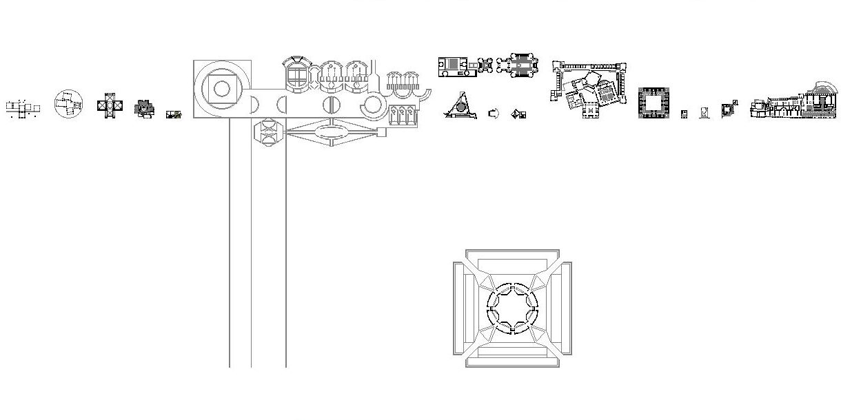 12042401 Kahn Architecture Circle/square Junctures Plans 217bi01